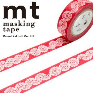 マスキングテープ マステ mt カモ井加工紙 mt ex 1p レース・丸(15mmx10m)MTEX1P104