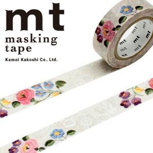 マスキングテープ mt カモ井加工紙 mt ex 1p レース・カロチャ(15mmx10m)MTEX1P105