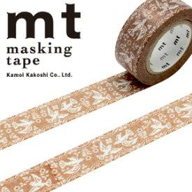マスキングテープ  mt カモ井加工紙 mt ex 1p レース・鳥(18mmx10m)MTEX1P106