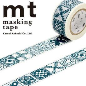 マスキングテープ  mt カモ井加工紙 mt x ミナ ペルホネン forest tile・blue (25mmx10m) MTMINA29