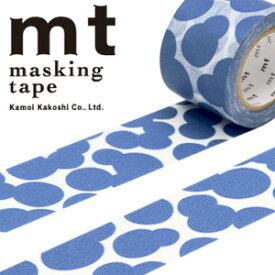 マスキングテープ  mt カモ井加工紙 mt x ミナ ペルホネン soda water・blue (35mmx10m) MTMINA30