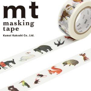 マスキングテープ mt カモ井加工紙 mt x アラン グレ 動物 (20mmx10m) MTALAN02・1巻