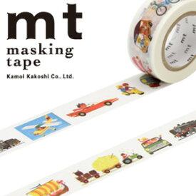 マスキングテープ mt カモ井加工紙mt x アラン グレ乗り物 (20mmx10m)MTALAN04・1巻