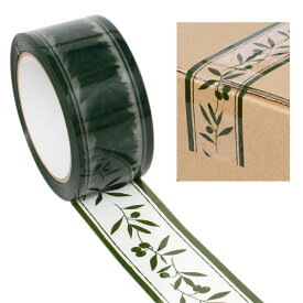 柄入りOPPテープ HEIKO シモジマ パッキングテープ オリーブガーデン 50mmx50m
