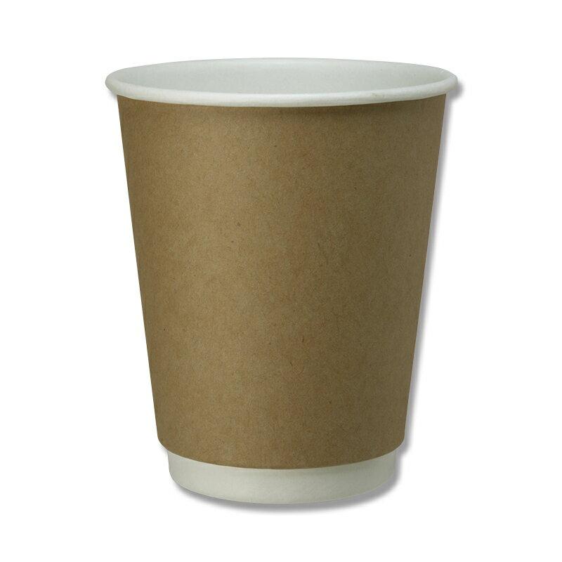 紙コップ HEIKO シモジマ 二重断熱カップ 8オンス クラフト 240ml 25個