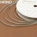 リボン ラッピング HEIKO/シモジマ シングルサテンリボン 幅3mmx20m ネズ(グレー)