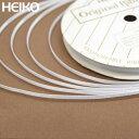 ラッピングリボン HEIKO シモジマ シングルサテンリボン 幅3mmx20m 白(シロ・ホワイト)