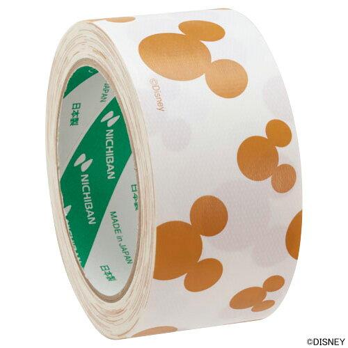 ニチバン布粘着テープ(柄入りガムテープ)ディズニー 茶 白 LSD-192 50mm×15m