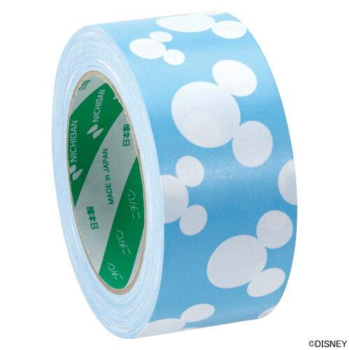 ニチバンクラフトテープ(柄入りクラフトテープ)ディズニー 白 青 KFD-3055 50mm×35m