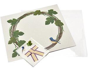 【クーポン配布中】売り切りSALE! octuple オクタプル 花びら付箋を貼る色紙 Botanical canvas tuta ツタ(しろ) ラッピングシール&透明袋付き 82242