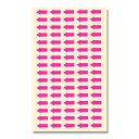 HEIKO/シモジマ タックラベル No.639 6×13mm 矢印 蛍光ピンク 160片