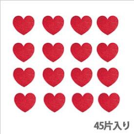 【クーポン配布中】タックラベル(シール)HEIKO シモジマ No.307 メタリックハート レッド14mm(45片入り)