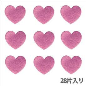 【クーポン配布中】タックラベル(シール)HEIKO シモジマ No.313 メタリックハート ピンク 19mm(28片入り)