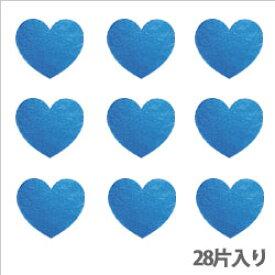 【クーポン配布中】タックラベル(シール)HEIKO シモジマ No.314 メタリックハート ブルー 19mm(28片入り)
