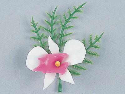 造花DA-74 アスパラ付カトレア(紅白)