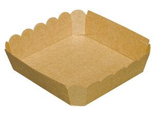 テーパートレイ AT-5 未晒 バレンタイン 手作り お菓子 パッケージ ギフトボックス 箱 ラッピング ラッピング用品 プレゼント 業務用