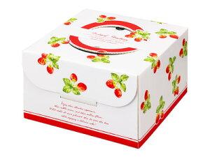 ラッピング 箱 ボックス ラッピング箱 【 デコ箱 いちごの実り 5号(トレーなし) 】 ケーキ 箱 ケーキ箱 ケーキボックス ギフトボックス ラッピング用品 ラッピングボックス ギフトラ