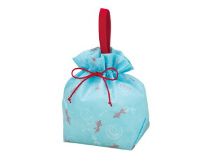 【 手提げ巾着ベール 金魚柄 】 巾着袋 巾着 袋 ラッピング袋 ラッピング用品 包装 ギフトラッピング ラッピングバッグ お菓子 プレゼント おしゃれ かわいい 業務用
