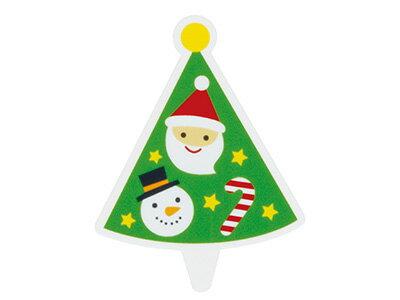 XG350 ケーキピック クリスマスツリー
