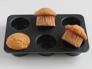 オリジナルマフィン型 6取 マフィンカップ 焼き型 焼型 ケーキ型 マドレーヌ フィナンシェ 焼き菓子 洋菓子 ケーキ ケーキ作り お菓子作り くっつきにくい 道具 菓子道具 手作り おうち時
