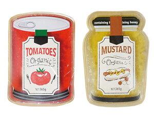クールジェルフード(トマト缶+マスタード瓶)