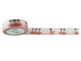和紙マスキングテープ Red chuchu 15mm×10m