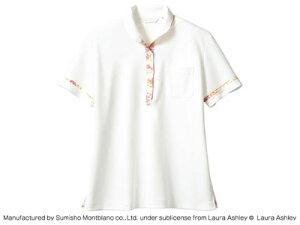 LAURA ASHLEY ニットシャツ LW201-12(オフホワイト/アメリ ピンク) S