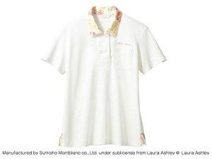 LAURA ASHLEY ニットシャツ LW202-12(オフホワイト/アメリ ピンク) S