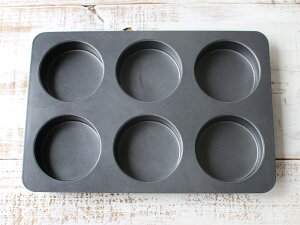 cotta イングリッシュマフィン型(6個取り) 6取 マフィンカップ 焼き型 焼型 ケーキ型 マドレーヌ フィナンシェ 焼き菓子 洋菓子 ケーキ ケーキ作り お菓子作り くっつきにくい 道具 菓子道具