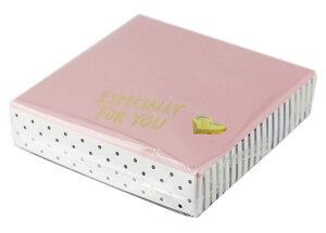\全品ポイント5倍確定★3/9限定/生チョコボックス 正方形 ガーリー ハートシール付 ピンク