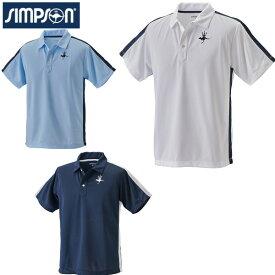 【50%OFF セール】 シンプソン (Simpson) テニスウェア メンズ ポロシャツ 送料無料 父の日 ギフト プレゼント お薦め STW-01000