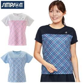 シンプソン (Simpson) テニスウェア レディース ゲームシャツ Tシャツ【送料無料】 レディース テニス ウェア レディースウェア STW-02100C