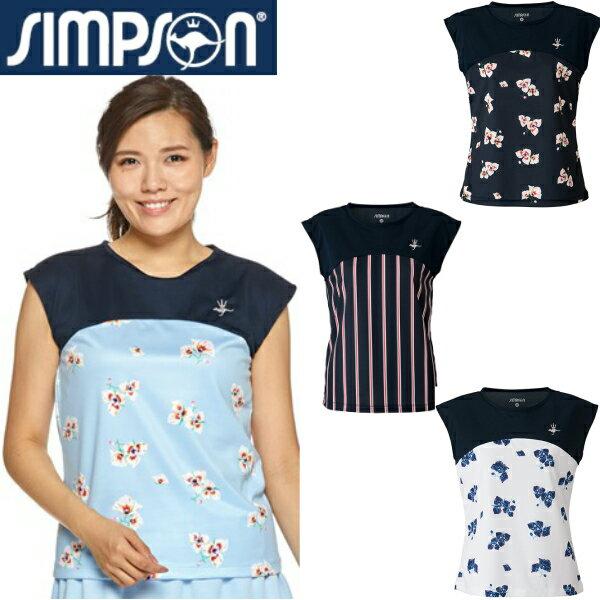 シンプソン(Simpson) テニスウェア レディース フレンチスリーブ ゲームシャツ STW-92102
