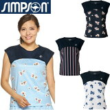 シンプソン(Simpson)テニスウェアレディースフレンチスリーブゲームシャツSTW-92102