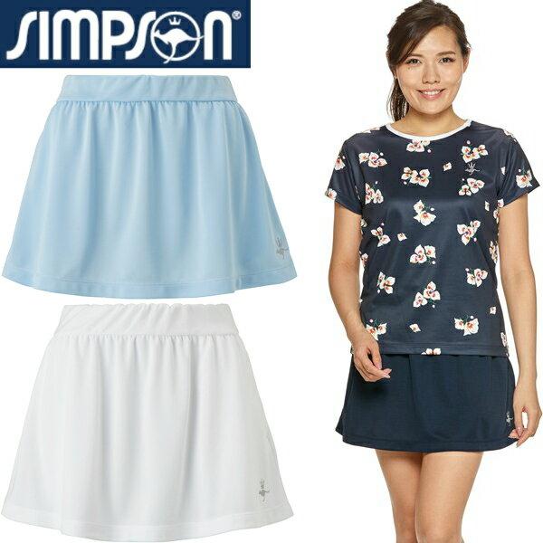 シンプソン(Simpson) テニスウェア レディース 無地 オーバー スコート (スパッツ無し) STW-92200