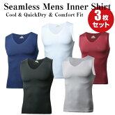 メンズインナークールドライノースリーブVネックシャツ吸汗速乾男性肌着下着
