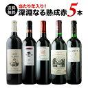 【送料無料】「5」当たり年入り!深淵なる熟成赤ワイン5本 送料無料 赤ワインセット【ギフト・プレゼント対応可】【ギ…