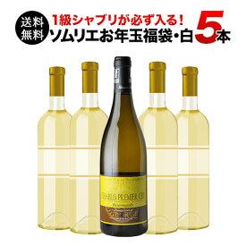 【送料無料】SALE ワイン 福袋 「F2」1級シャブリ入り!ソムリエお年玉福袋・白ワイン5本 送料無料 白ワインセット【ギフト ワイン】【ソムリエ】【家飲み】【バレンタイン】