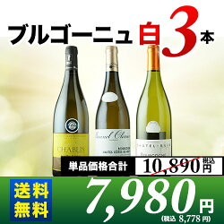 ブルゴーニュ白3本セット第10弾送料無料白ワインセット【ギフト・プレゼント対応可】【ギフトワイン】【ソムリエ】【お歳暮ギフト】