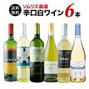 【送料無料】辛口白ワイン6本セット 第54弾 送料無料 白ワインセット 【ギフト・プレゼント対応可】【ギフト ワイン】【ソムリエ】【家…