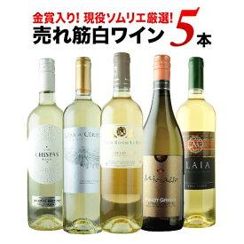 現役ソムリエの売れ筋白ワイン5本セット 第9弾 白ワインセット【12本単位のご購入で送料無料/ギフト・プレゼント対応可】【ギフト ワイン】【ソムリエ】【楽ギフ_のし】
