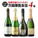 【送料無料】「3」世界代表ワイン入り!万国博覧会セットスパークリングワイン4本セット 送料無料 スパークリングワインセット【ギフト…