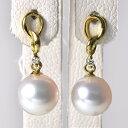 「あこや真珠 スタッドパールピアス ホワイト系 7.0-7.5mm BBB K18」 ゴールド(アコヤ本真珠)[n6]