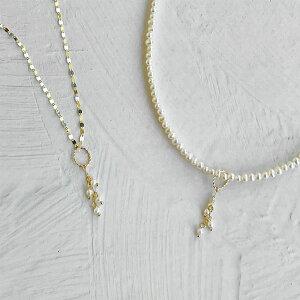 淡水真珠 ペンダントトップ(チャーム) K10 ゴールド 内径 6×5mm [n3](トレンド ネックレス 重ね付け ベビーパール ペタルチェーン おしゃれ インスタ映え)
