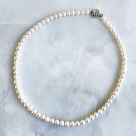アコヤ本真珠 ネックレス ホワイト系 5.5-6.0mm《初めての方におすすめ》[n2] akoya pearl necklace (真珠 パールネックレス)(冠婚葬祭 フォーマル ファーストパール ユニセックス)【WEB限定】