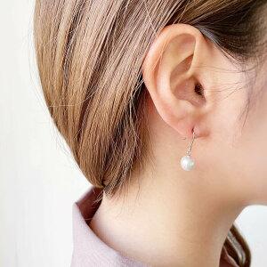 [送料無料]アコヤ真珠ピアスパールピアス(フックタイプ)7.5-8.0mmB〜CB〜CBホワイト系K14WG/K18(Sサイズ)レビューでオマケ付き[真珠パール][pearl][SS][CO]