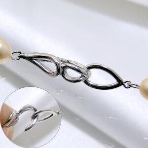 【受注発注品】ドロップデザイン フック式クラスプ シルバー(silver) [n5](真珠ネックレス用 留め具 パーツ)