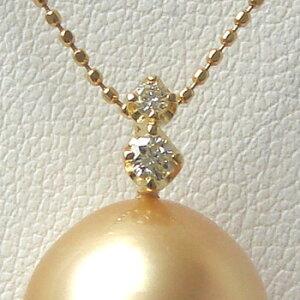【受注発注品】0.09ct 大小の2粒ダイヤが輝く ペンダントトップ金具 K18 ゴールド [n6](真珠 パール セミオーダー 加工用 パーツ)