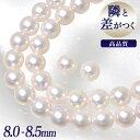 《隣と差がつく》 あこや真珠 パールネックレス&ピアス 2点セット 8.0-8.5mm A〜BBB〜C 真珠ピアス イヤリング [n2][…