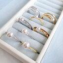 最大70%OFFクリアランス★あこや真珠 選べるタイニーパールリング K18WG K18 4.0mm〜6.0mmUP 指輪 [n3][SS](ベビーパ…
